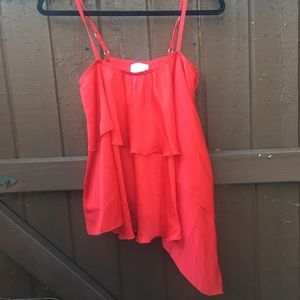 Shelli segal laundry asymmetrical red top